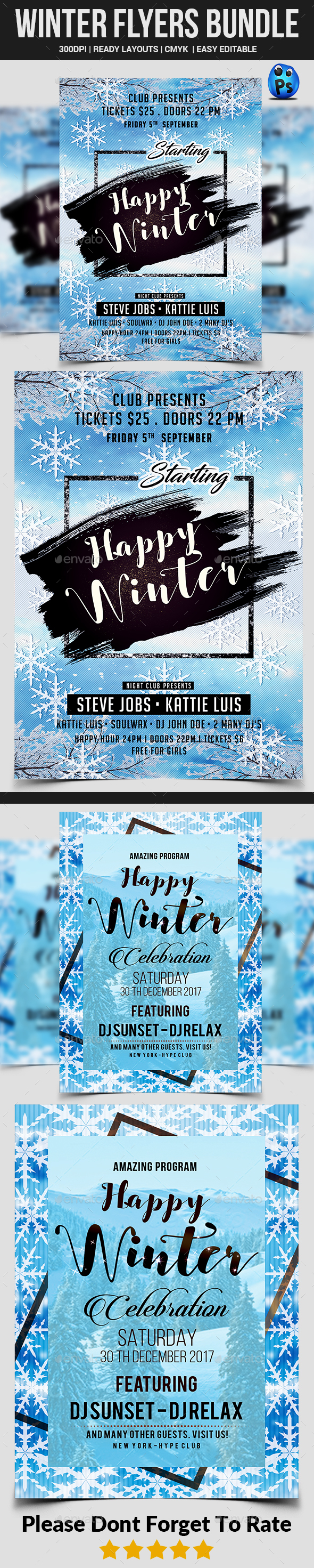 Winter Flyers Bundle - Clubs & Parties Events