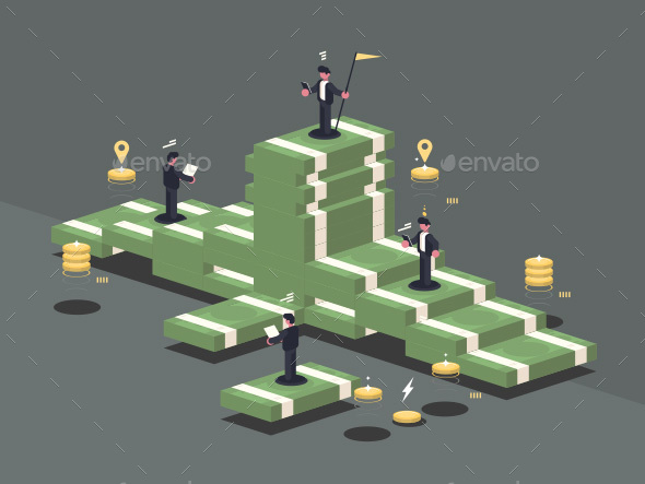 GraphicRiver Pile of Money 21098894