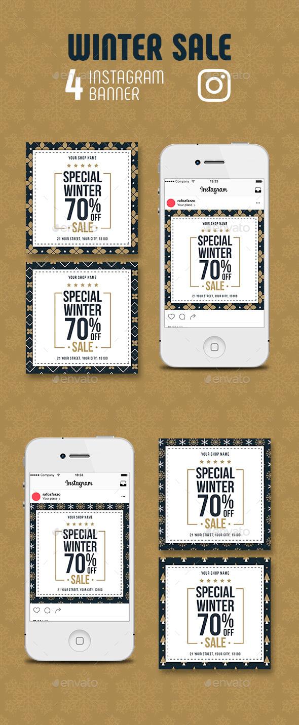 GraphicRiver Winter Sale Instagram Banner 21098937