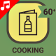 Fast Food and Healthy Cooking Food Animation - Line Icons and Elements