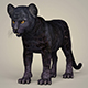 Photorealistic Panther Cub