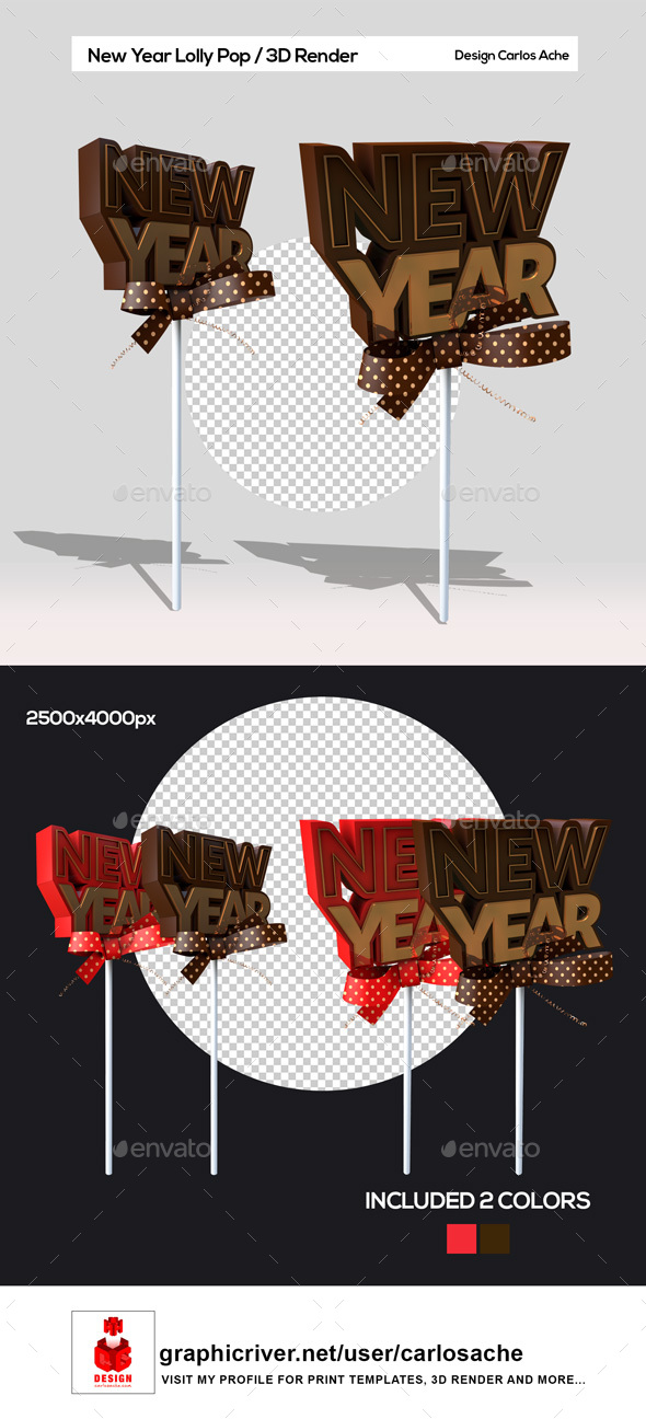 GraphicRiver New Year Lolly Pop 21099106