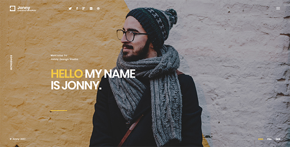 Jonny - One Page HTML Template