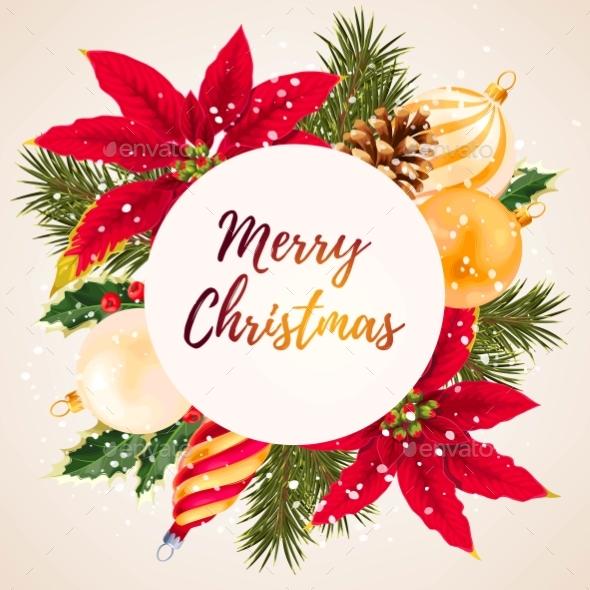 Merry Christmas Greeting Postcard - Christmas Seasons/Holidays