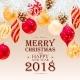 Merry Christmas Greeting Postcard