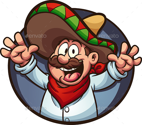 Happy Mexican Man - People Characters