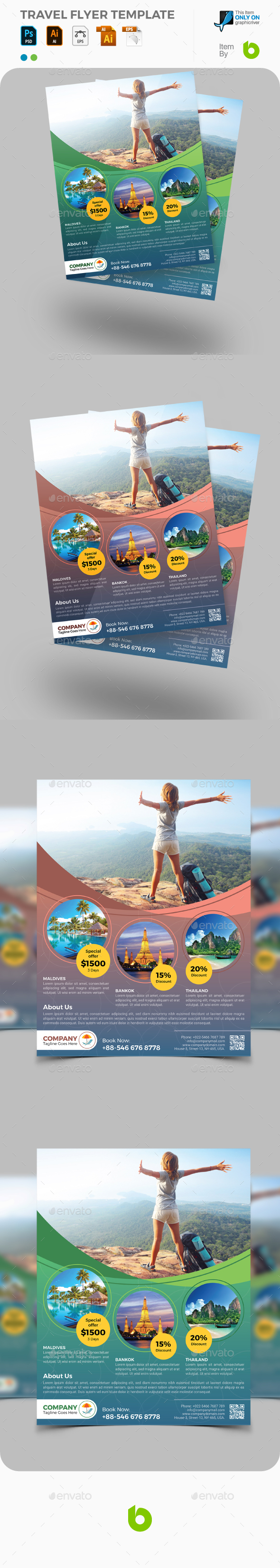 GraphicRiver Travel Flyer Template 21099670