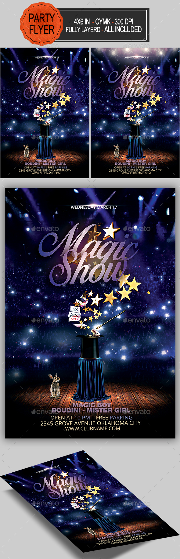 GraphicRiver Magic Show Flyer 21089386