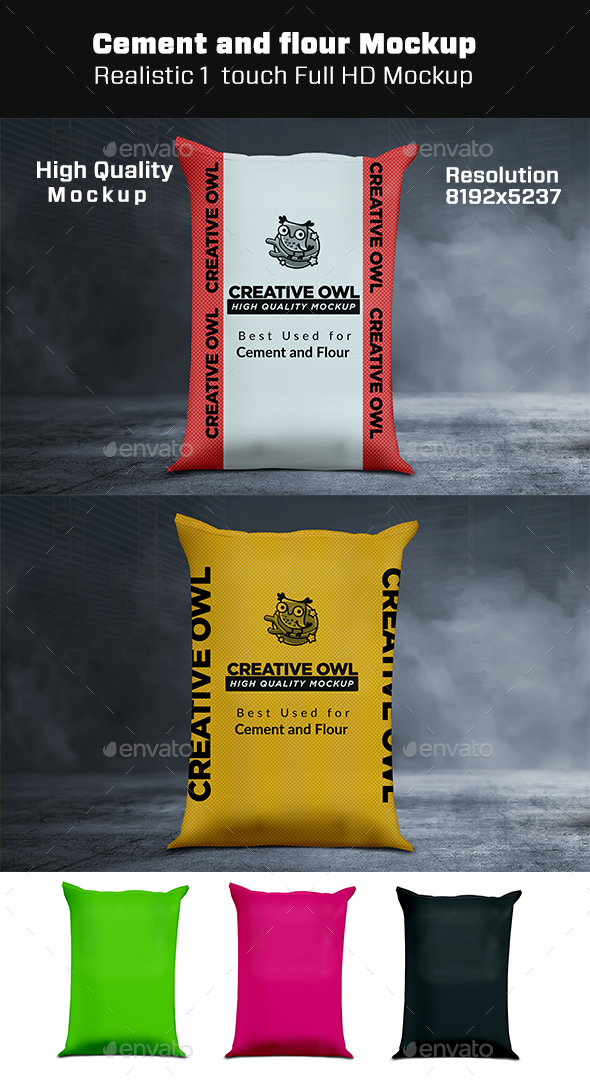 Cement or Flour Mockup - Miscellaneous Packaging
