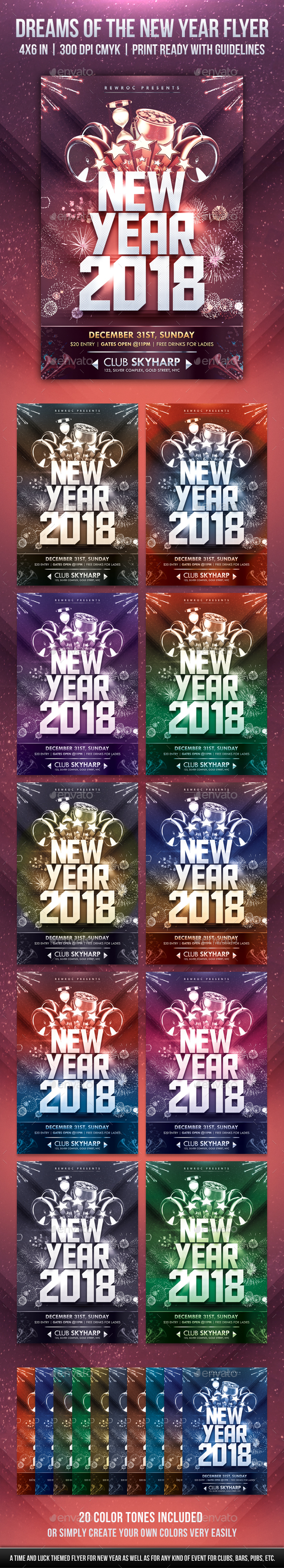Dreams Of The New Year Flyer - Holidays Events