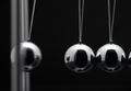 Closeup Of Newton Balls With Swinging Metal Spheres - PhotoDune Item for Sale