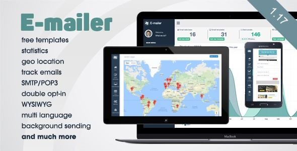 E-mailer - Newsletter & Mailing System with Analytics + GEO location - CodeCanyon Item for Sale