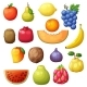 Cartoon Fruits Set Isolated on White Background - GraphicRiver Item for Sale