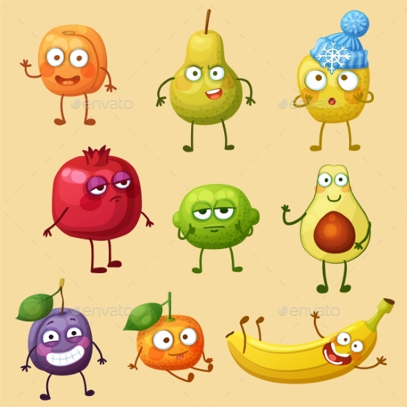 GraphicRiver Funny Fruit Character Isolated on White Background 21100000