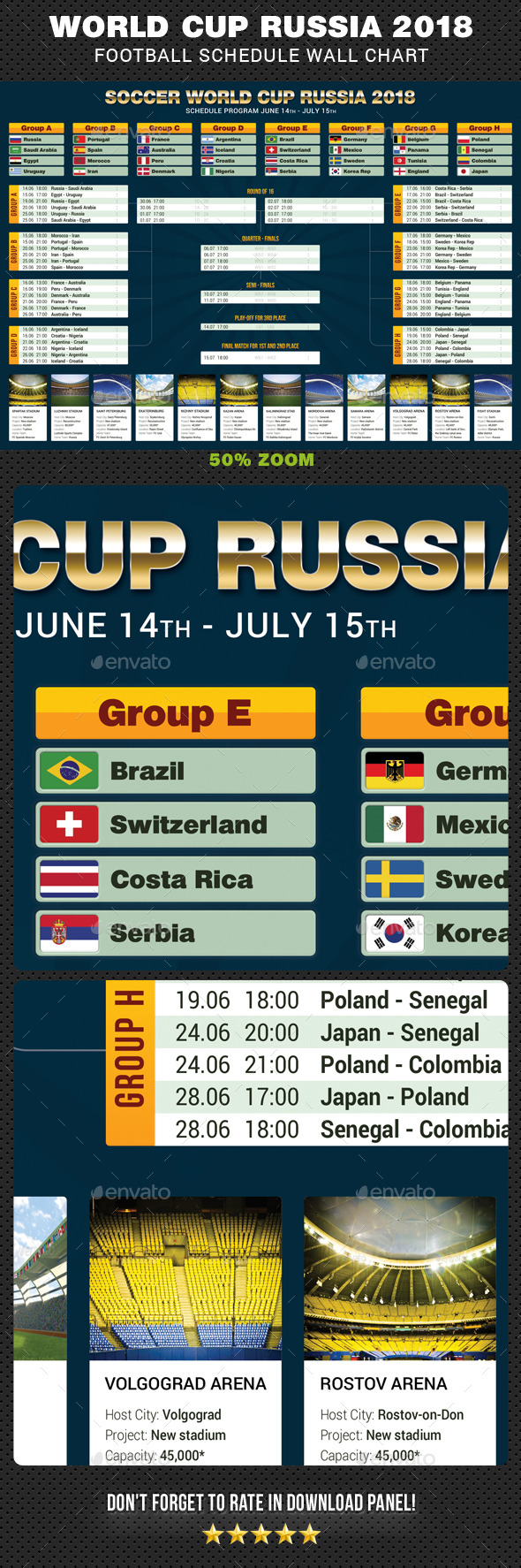 GraphicRiver Soccer World Cup Russia 2018 Schedule 21100063