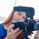 Woman Recording Vlog Video Blog Using DSLR Camera - PhotoDune Item for Sale