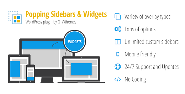 Popping Sidebars and Widgets for WordPress - CodeCanyon Item for Sale