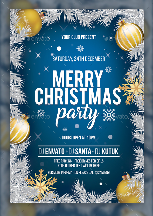 GraphicRiver Christmas Party flyer 21100264