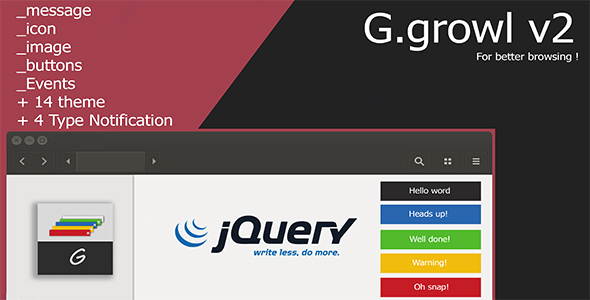gGrowl Notification - Messages with Icons Plugin - CodeCanyon Item for Sale
