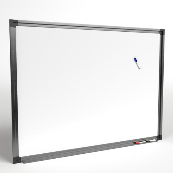 Magnetic Whiteboard with Markers - 3DOcean Item for Sale