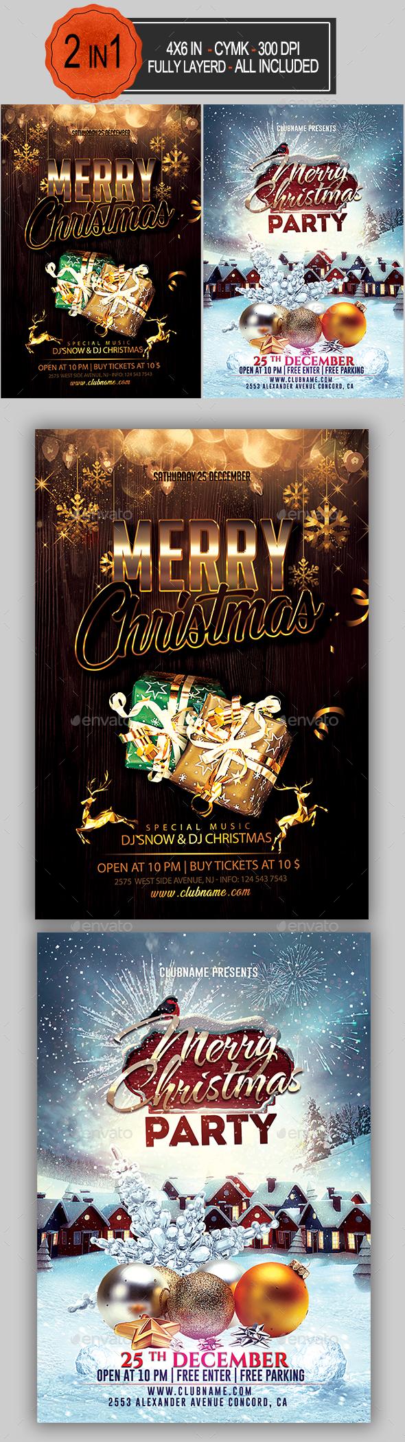 GraphicRiver Christmas Flyer Bundle 21100466