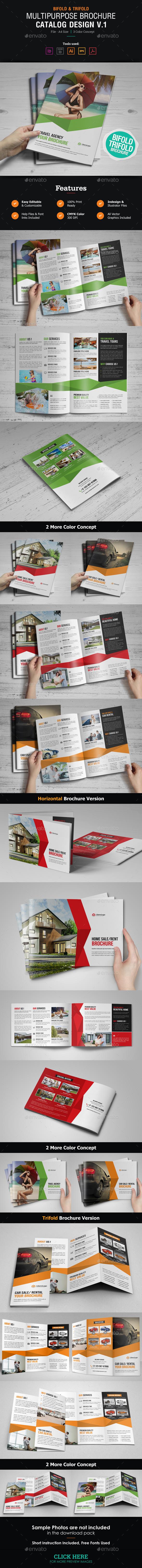 Multipurpose Brochure Catalog Design - Corporate Brochures