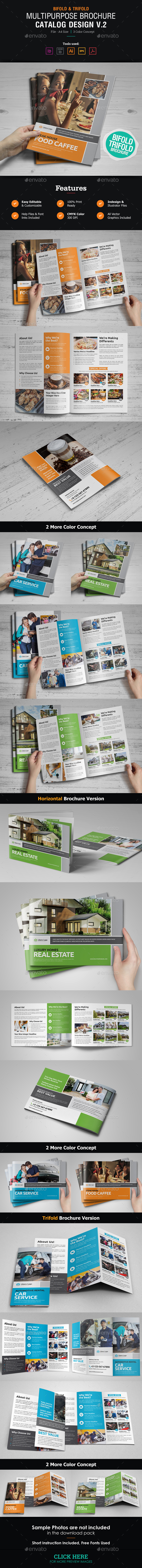 GraphicRiver Multipurpose Brochure Catalog Design v2 21100576