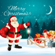 Christmas Holiday Banners With Presents And Santa Claus. Vector.