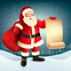 Christmas Holiday Background With Presents And Santa Claus. Vector.