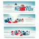 Merry Christmas Banners with Branches Of Tree And Colorful Gift Boxes. Vector - GraphicRiver Item for Sale