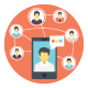 80 Networking and Communication Icon - GraphicRiver Item for Sale