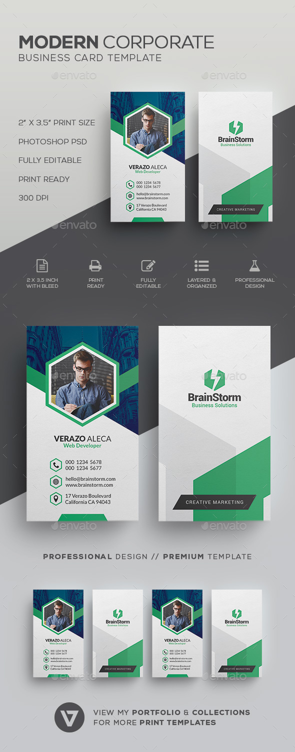 GraphicRiver Clean Modern Business Card Template 21100724