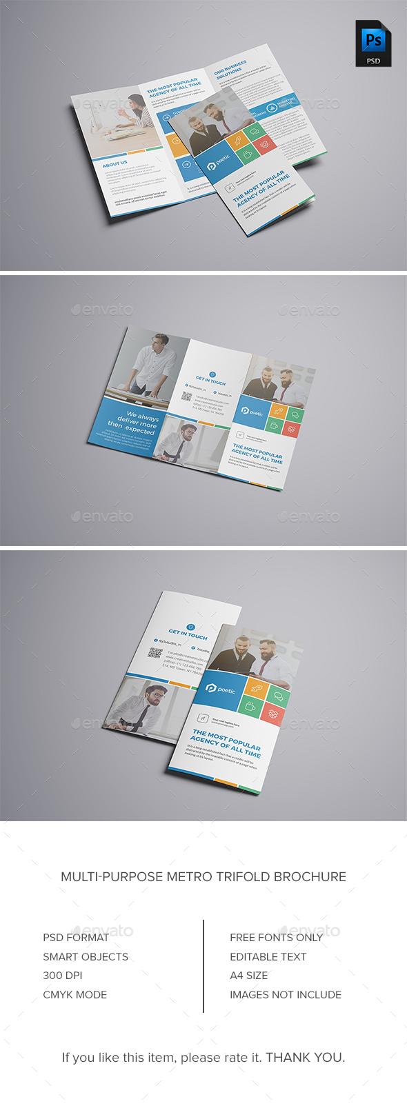 GraphicRiver Metro Trifold Brochure 21100732