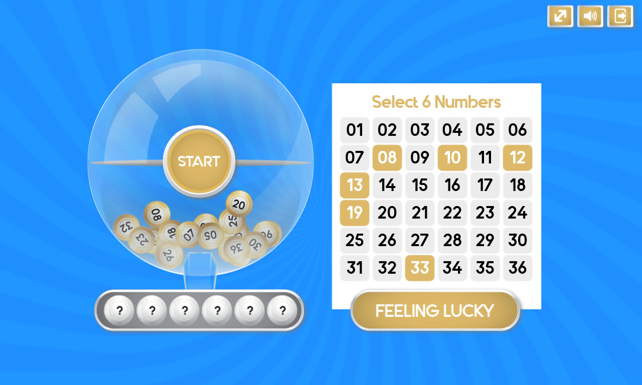 Lottery Numbers - HTML5 Game