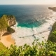Aerial View of Paluang Cliff and Coastline Klingking Beach on Nusa Penida, Indonesia - VideoHive Item for Sale