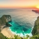 Kelingking Beach Giant Rock Sunset  in Nusa Penida, Indonesia - VideoHive Item for Sale