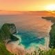 Aerial View  of Kelingking Beach Giant Rock Sunset in Nusa Penida, Indonesia - VideoHive Item for Sale