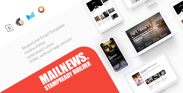 ThemeForest Mail News Responsive Email Newspaper Magazine News 21100784