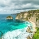 Rocky Coast in the Ocean at Atuh Beach on Nusa Penida Island, Indonesia - VideoHive Item for Sale