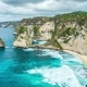 Rocky Coast with Big Waves at Atuh Beach on Nusa Penida Island, Indonesia - VideoHive Item for Sale
