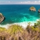 View From the Top To Rocky Atuh Beach at Nusa Penida Island, Bali, Indonesia - VideoHive Item for Sale