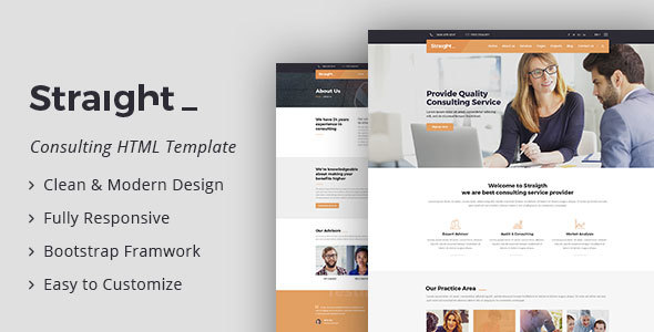 Image of Straight - Business & Consulting HTML Template