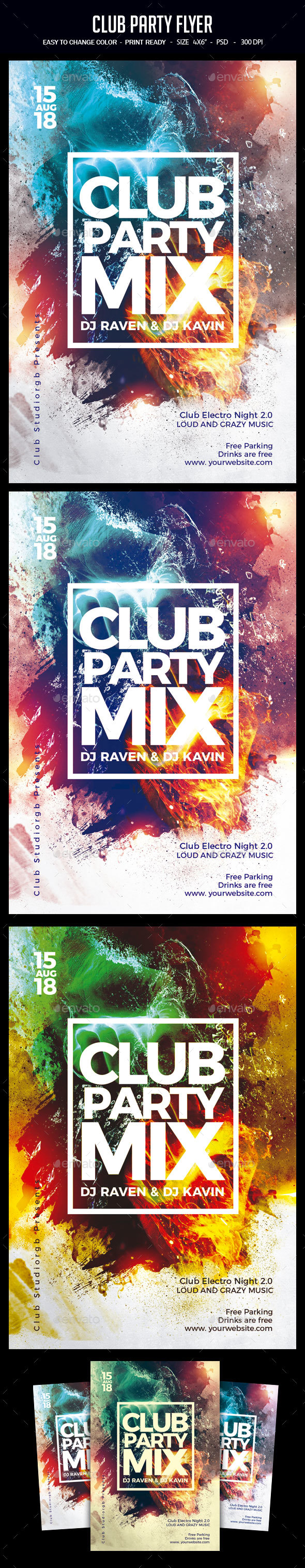 GraphicRiver Club Party Flyer 21100927