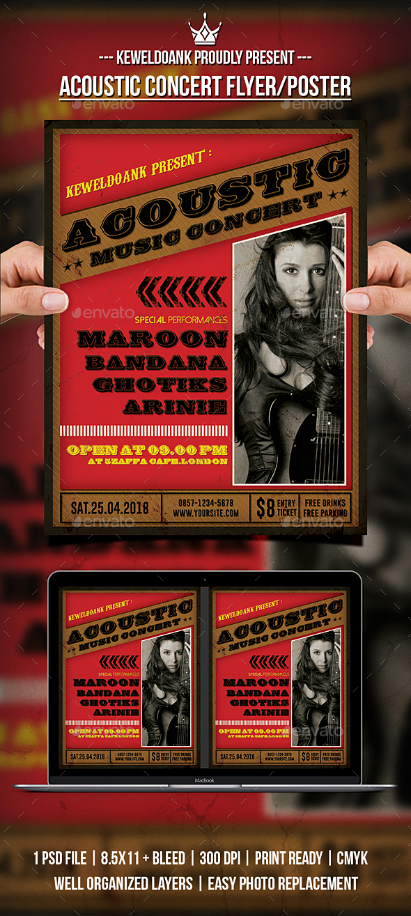 Acoustic Concert Flyer / Poster - Concerts Events