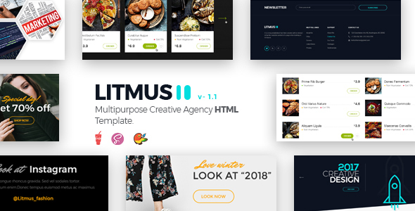Image of Litmus - Clean & Creative Multipurpose HTML Template