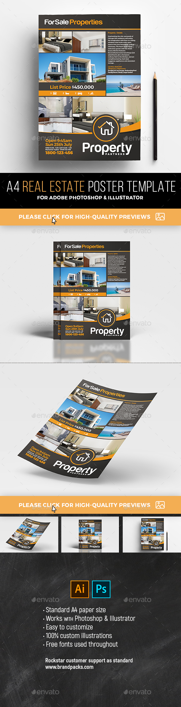 Real Estate Poster Template - Commerce Flyers