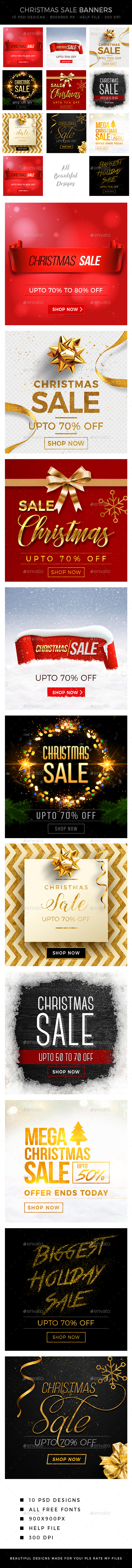 GraphicRiver Christmas Banners 21101078