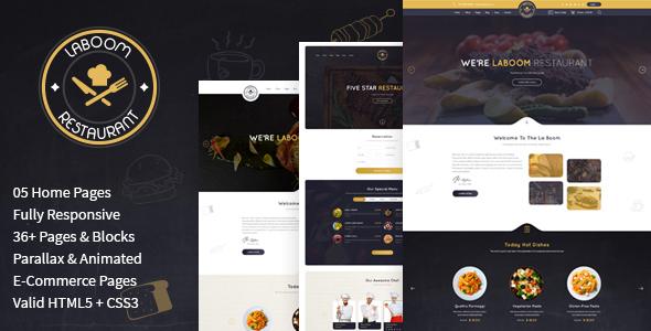Image of La Boom - Food & Restaurant Bistro HTML Template