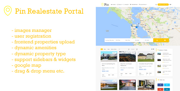 CodeCanyon PIN Real Estate Portal PHP Script 21039188