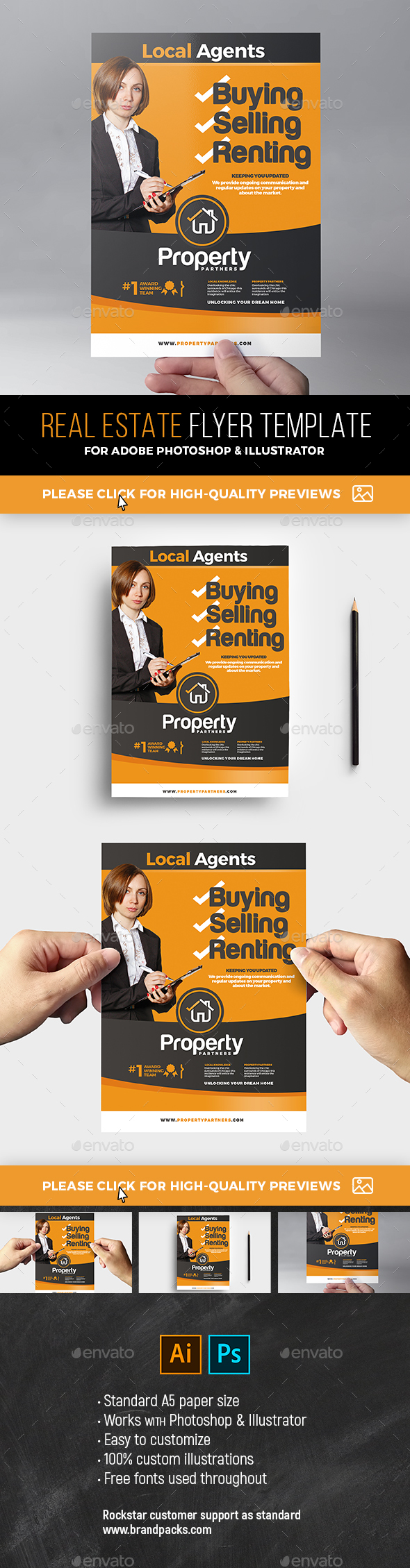 Realtor Flyer Template By BrandPacks GraphicRiver - Just listed flyer template